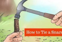 how to tie a snare