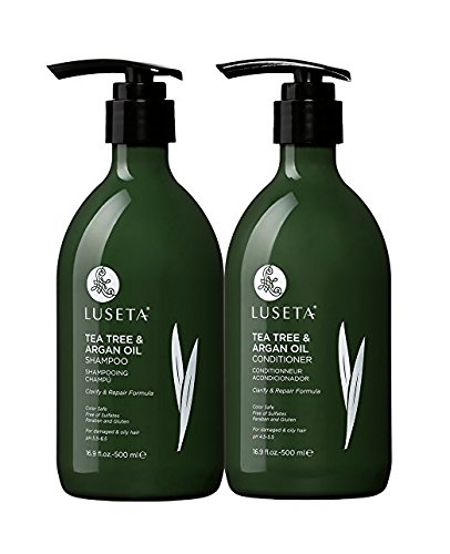 L Lustea Tea Tree and Argan Oil Detangling Shampoo and Conditioner