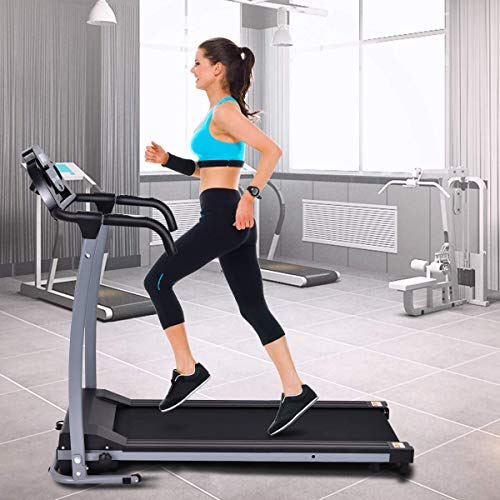 GOPLUS Folding Motorized Treadmill with LED Display for Home Use
