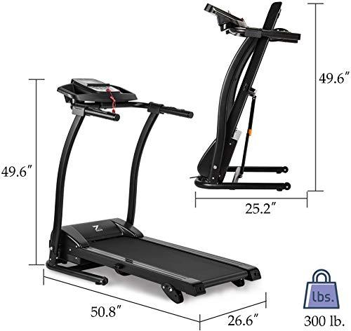 ZELUS 1100W Folding Treadmill Motorized Machine