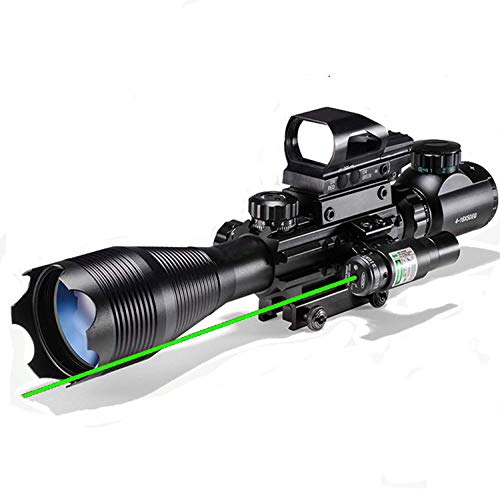 Hunting Rifle Scope Combo C4-16x50EG Dual Illuminated with Green Laser sight