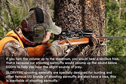 GLORYFIRE Electronic Shooting Ear Muff