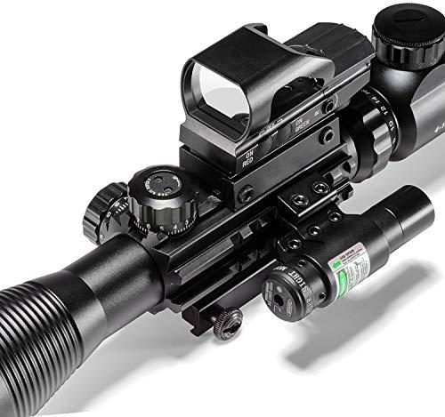 Hunting Rifle Scope Combo C4-16x50EG Dual Illuminated with Green Laser sight