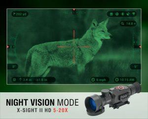 ATN X-Sight II HD 5-20 Smart Day/Night Rifle Scope