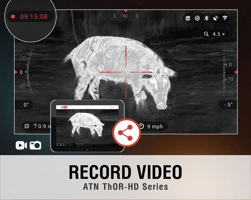 ATN ThOR HD 384 Smart Thermal Riflescope w/ High Res Video