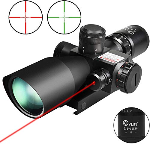 CVLIFE 2.5-10x40e Red & Green Illuminated Scope