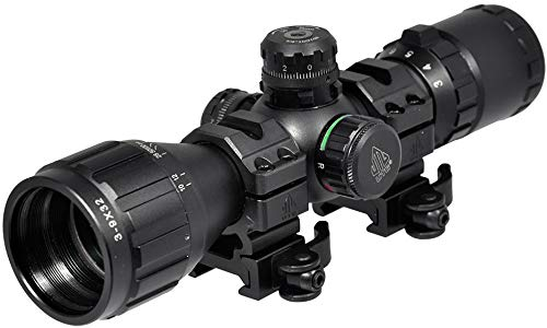 "UTG 3-9X32 1"" BugBuster AR Scope, AO, RGB Mil-dot"