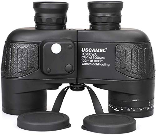 USCAMEL 10x50 Marine Binoculars for Adults with Rangefinder Compass